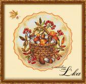 """Схема для вышивки крестом """"Осеннее лукошко""""."""