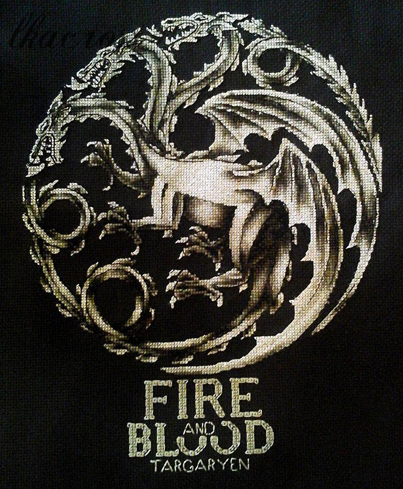Схема для вышивки крестом Fire and blood.
