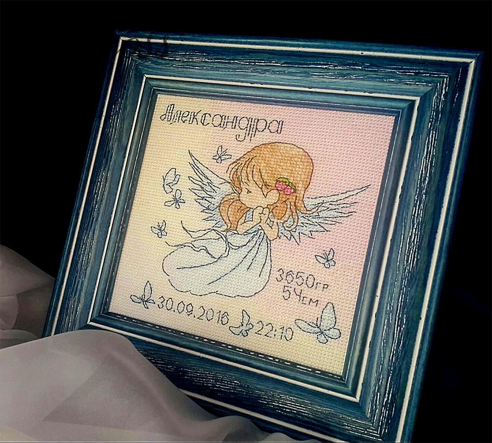 Схема для вышивки крестом Ангел. Отшив.